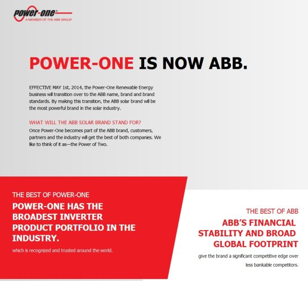 Power1 is now abb600